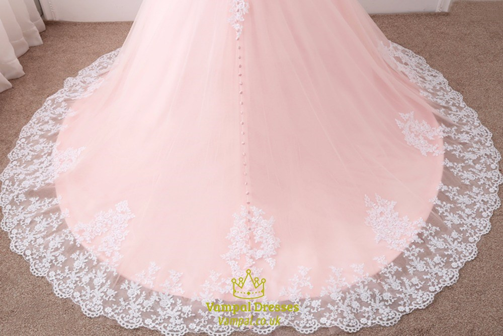 Elegant off the shoulder lace appliques wedding bridal