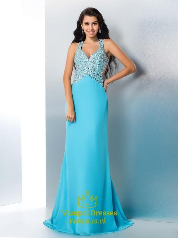 Aqua Blue Prom Dresses