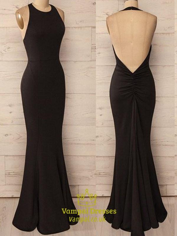 Black Halter Evening Dress