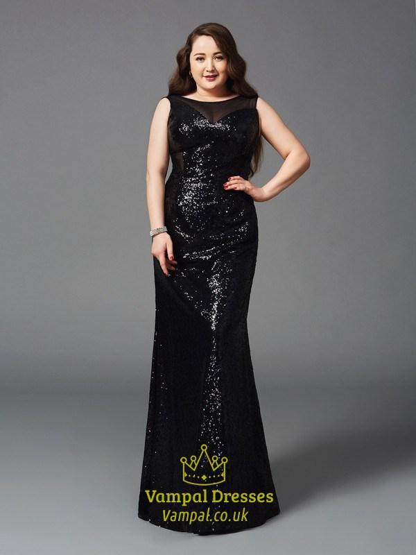 Black Illusion Neckline Prom Dress Vampal Dresses