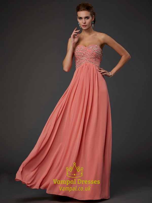 Strapless A-Line Jeweled Bodice Low Back Floor Length Long Prom ...
