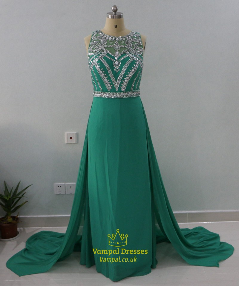Green Sleeveless Dress
