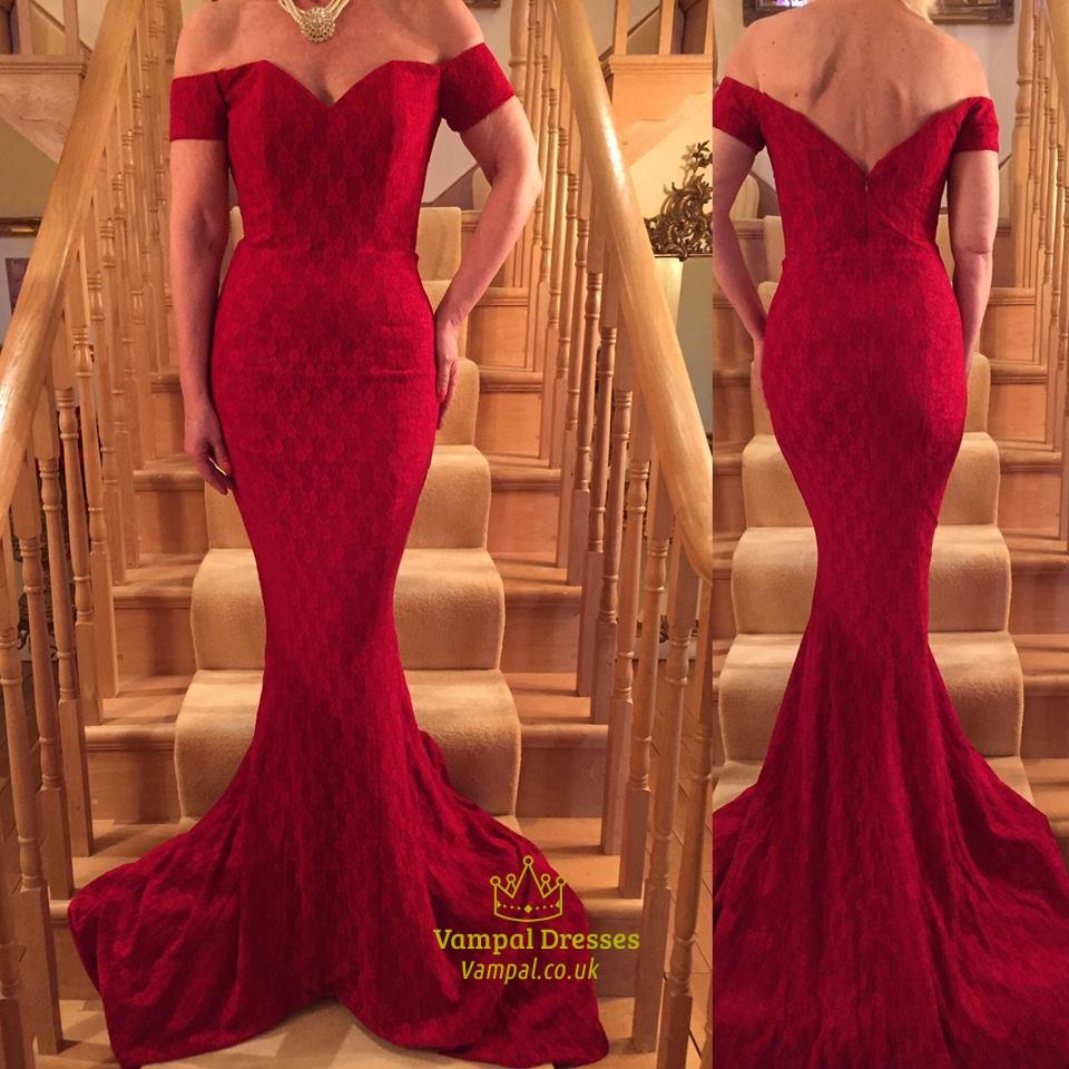 7f560bde992 Elegant Off The Shoulder Mermaid Dress