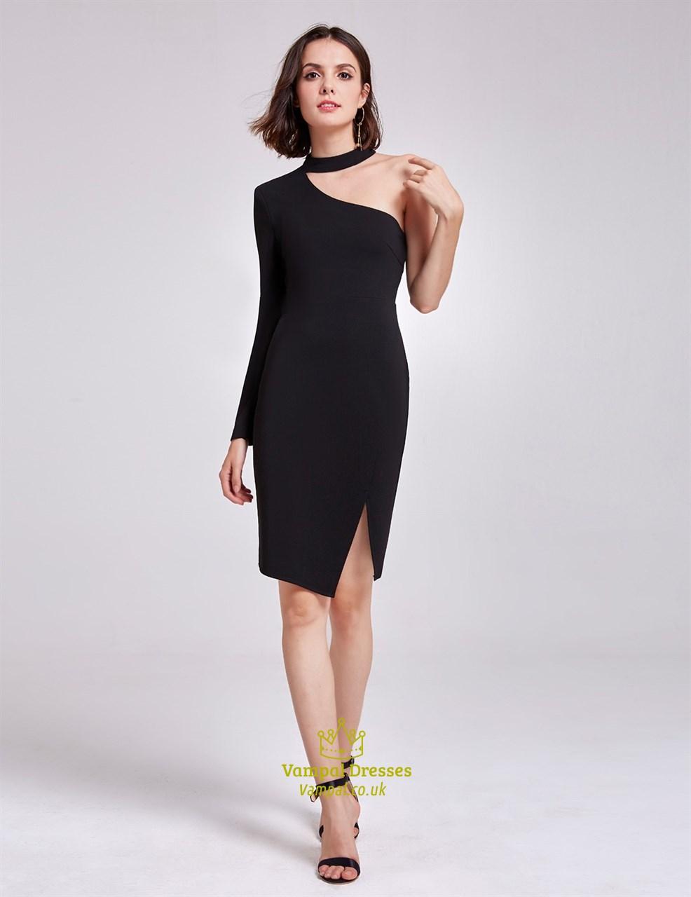 Asymmetrical Little Black Dress