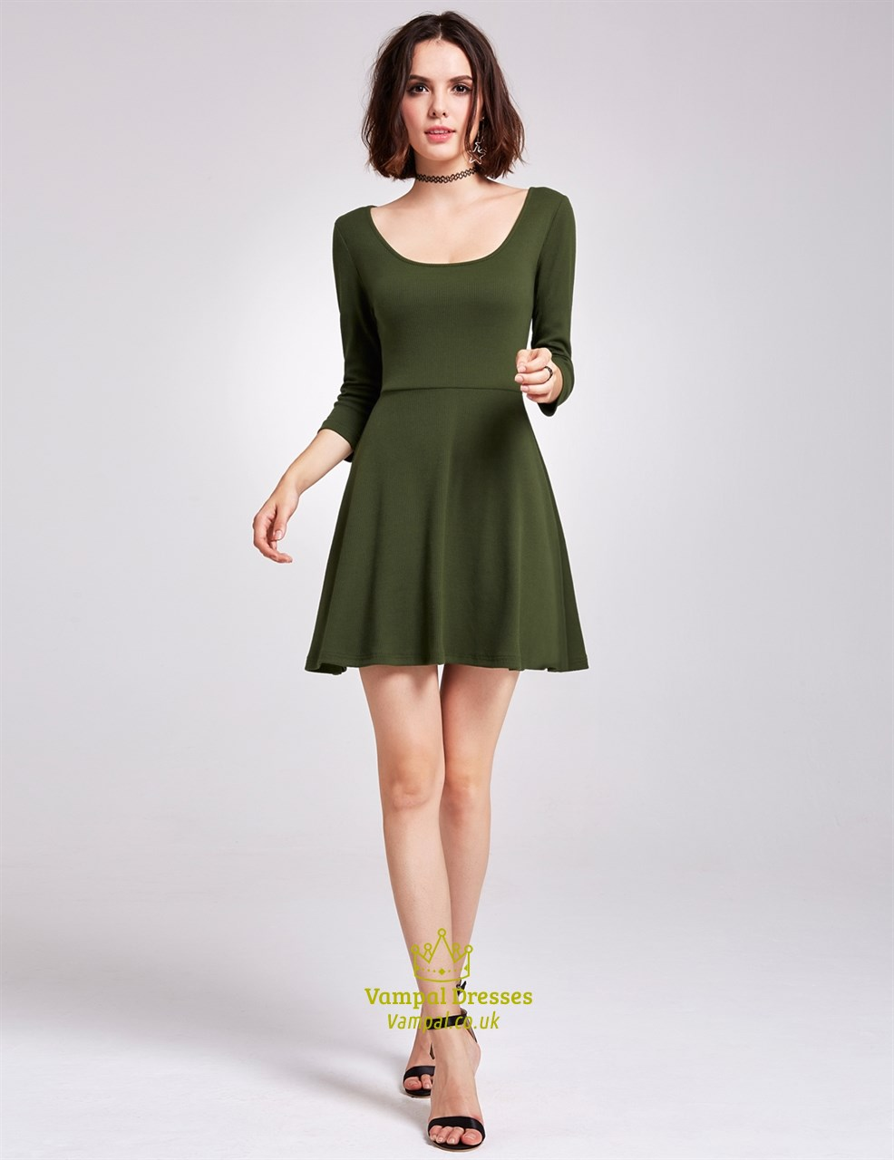 A Line Scoop Neck Dress