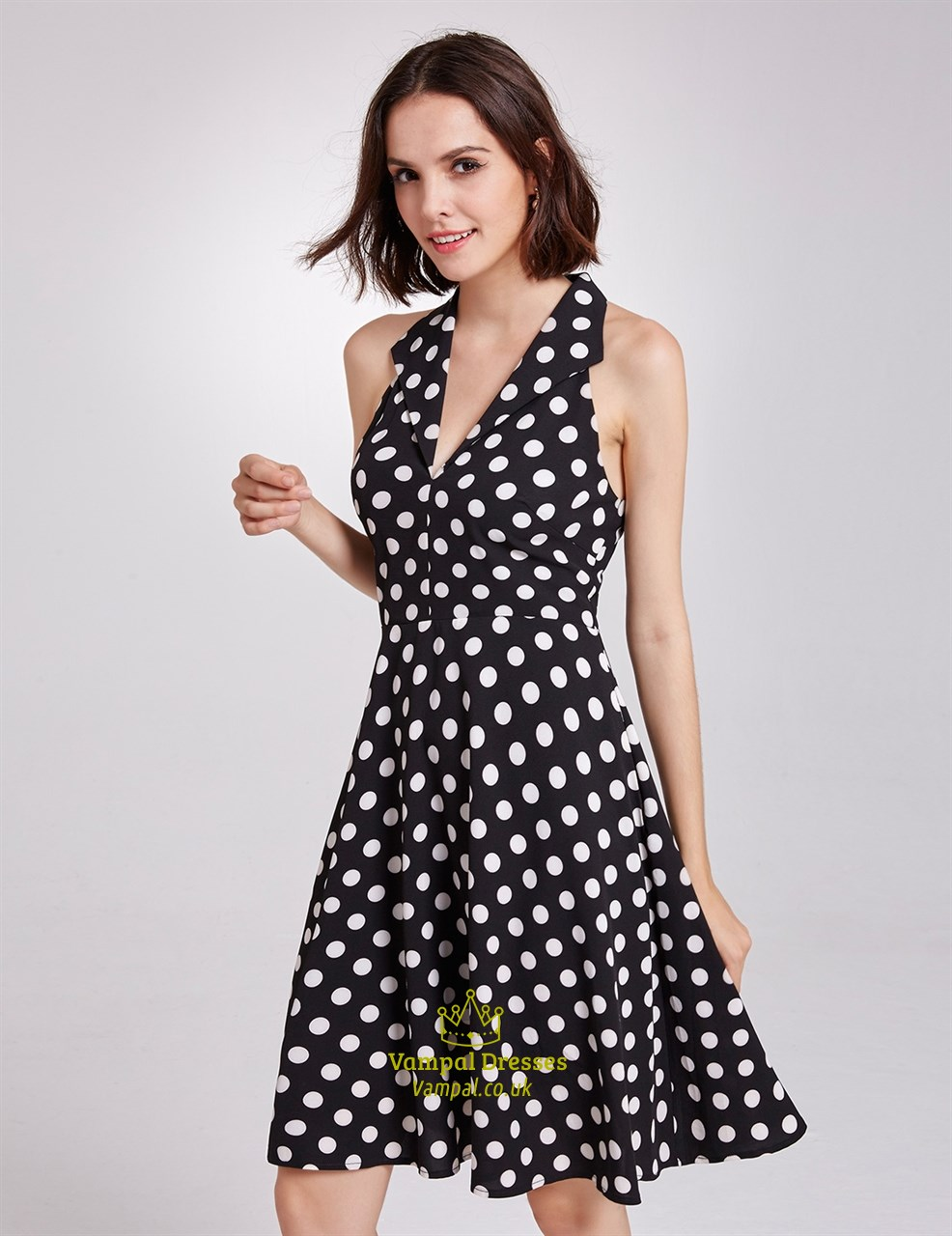 The sun is shining, so grab a latte and wander through the park in the Lulus Afternoon Stroll Black Polka Dot Midi Dress! Dainty, white swiss dots embellish this woven frock with a sheer decolletage, and ruffled sleeveless bodice/5(69).