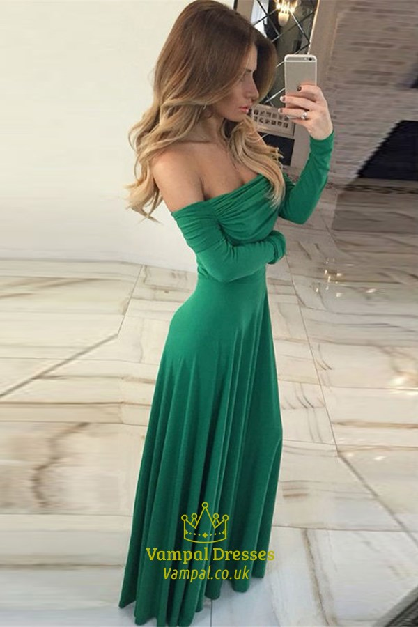 Off The Shoulder Simple Chiffon A Line Prom Dress With