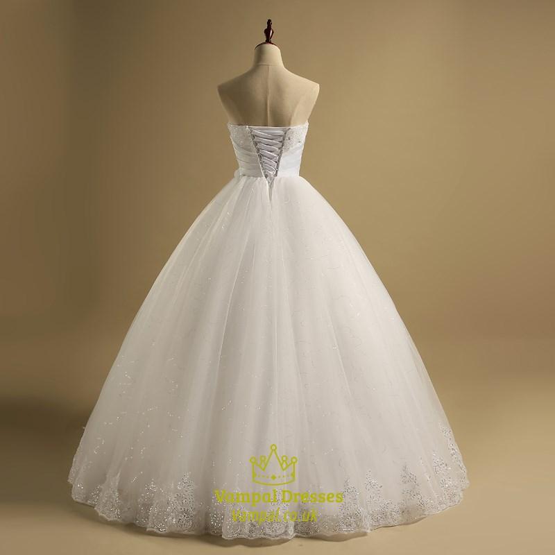 Sweetheart Beaded Sleeveless Sequin Tulle Wedding Dress With Belt Vampal Dresses,Black And White Wedding Bridesmaid Dresses