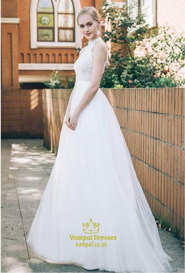 Lace Halter Top Wedding Dresses Short Halter Top Wedding Dresses For The Beach Sku Cf517