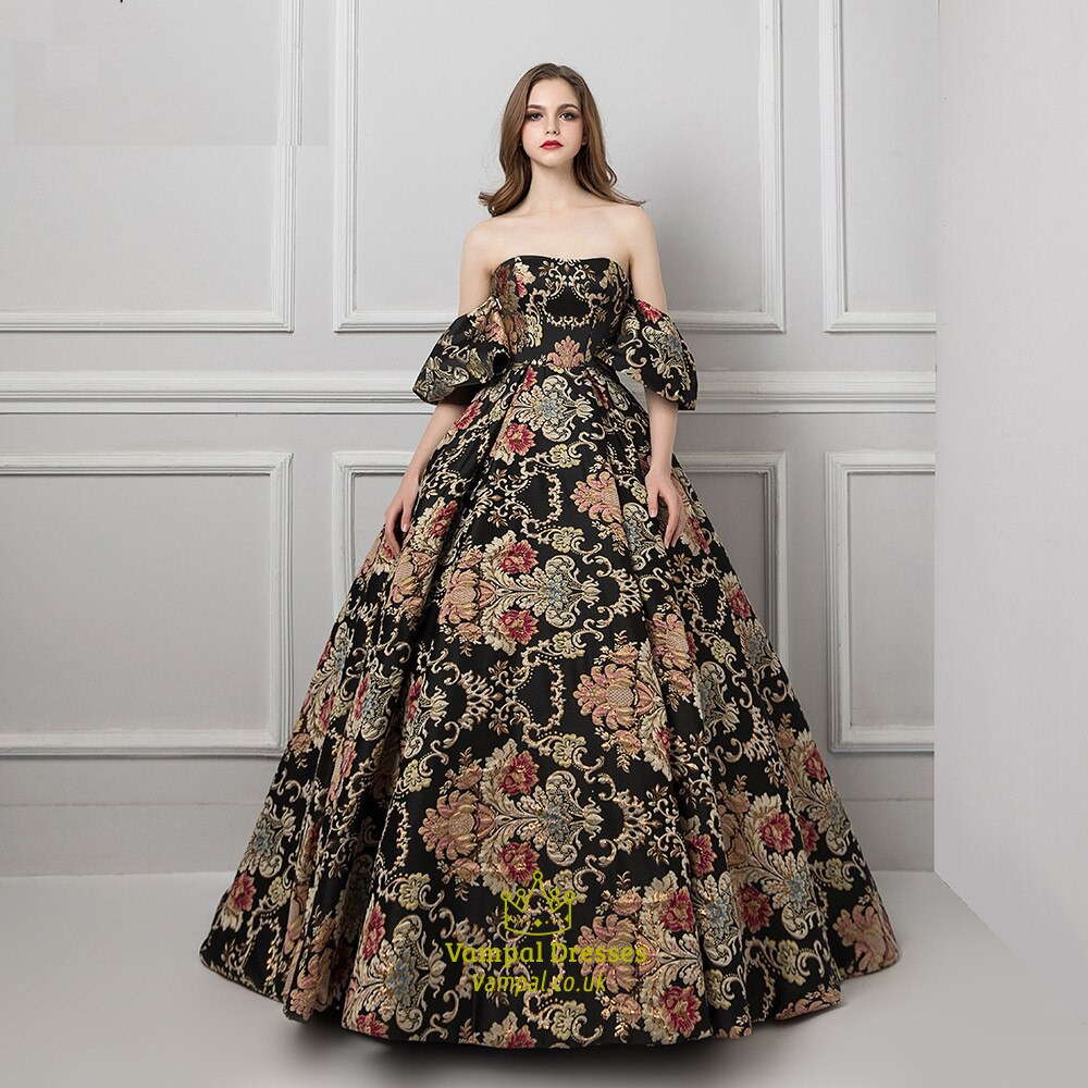 Strapless Embroidered Ball Gowns