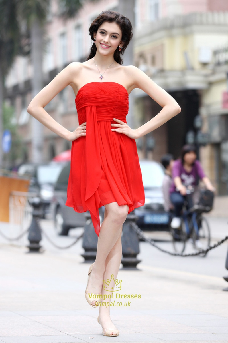 Red Bridesmaid Dresses for Teens