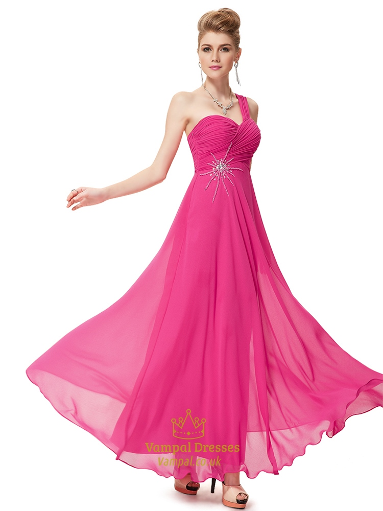Fuschia and black bridesmaid dresses