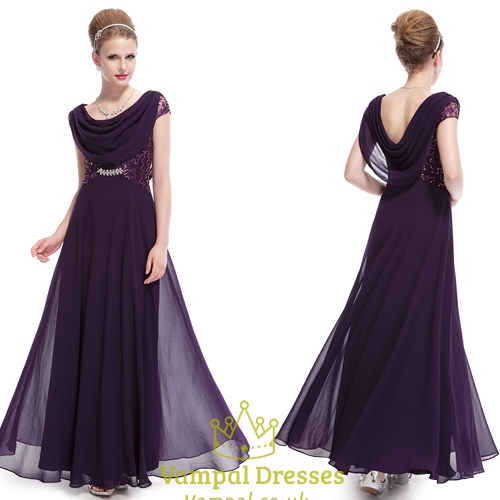Purple Evening Gowns for Mother of the Bride