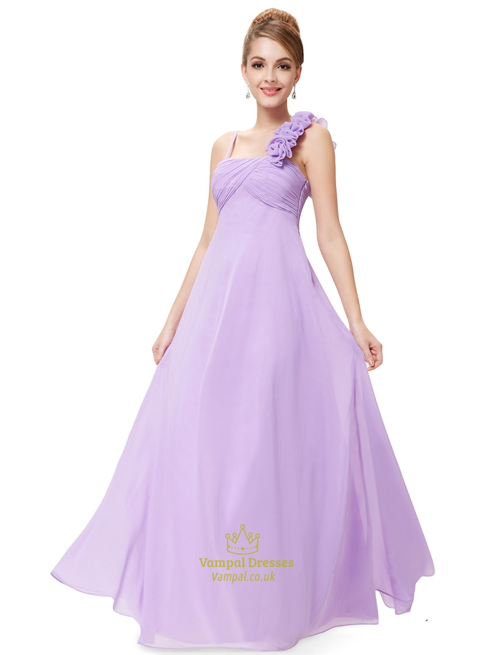 One Shoulder Chiffon Bridesmaid Dresses Uk - Wedding Short Dresses