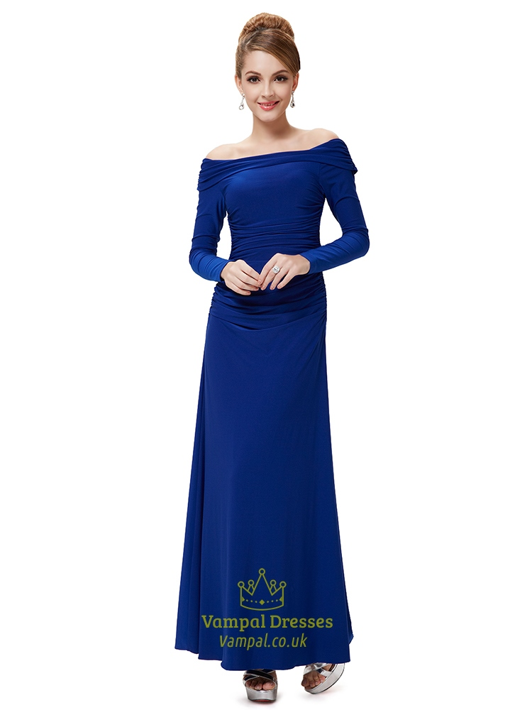 Long Sleeve Blue Gowns