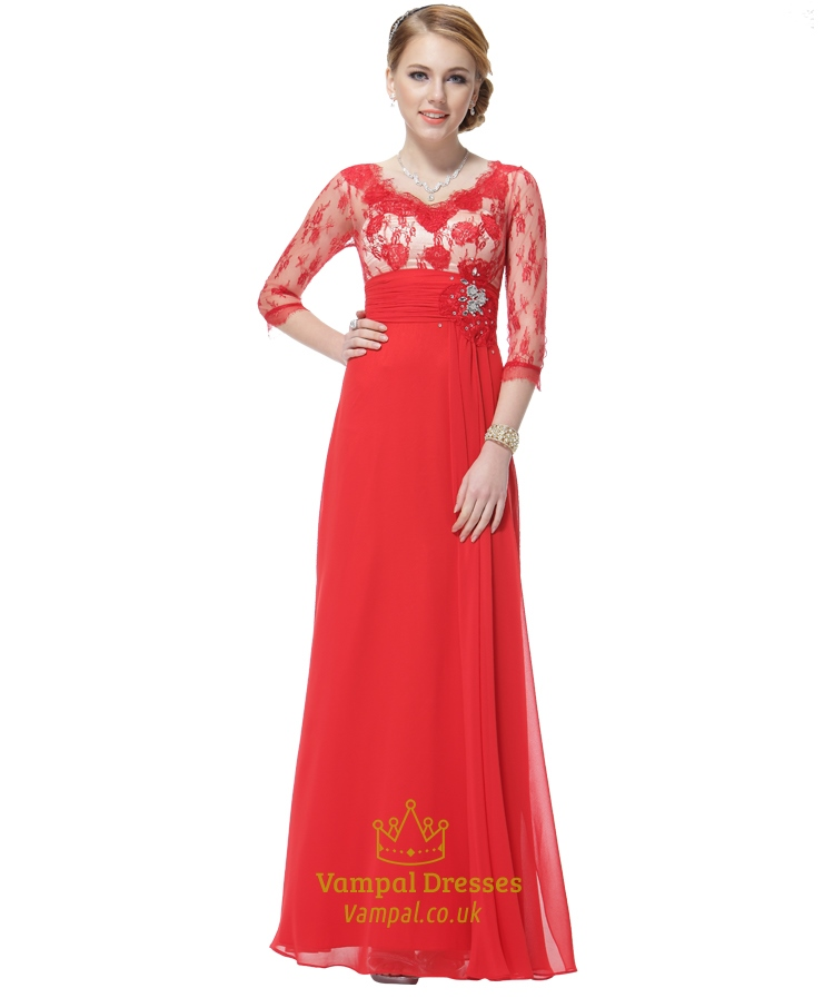 Red Mother Of The Groom Dresses With Jacket,Mother Of The