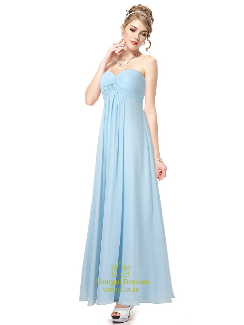 Long baby blue bridesmaid dresses blue bridesmaid dresses for Long blue dress for wedding