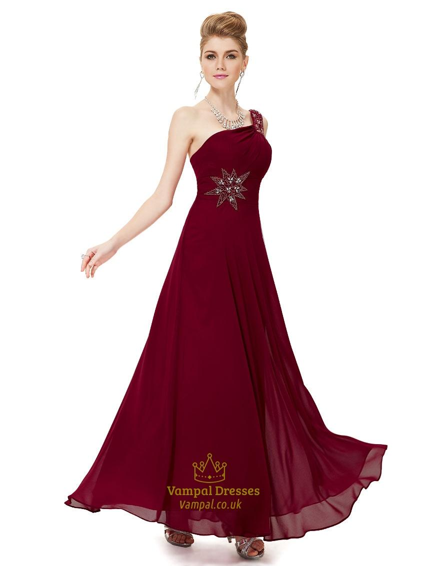 maroon one shoulder dress burgundy one shoulder bridesmaid. Black Bedroom Furniture Sets. Home Design Ideas