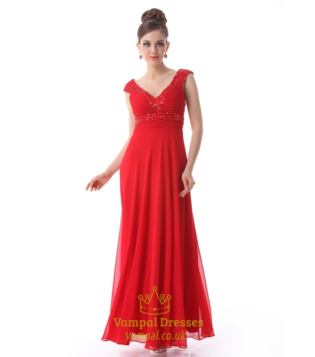 Red Prom Dresses With Straps,Mother Of The Bride Dresses For Outdoor ...
