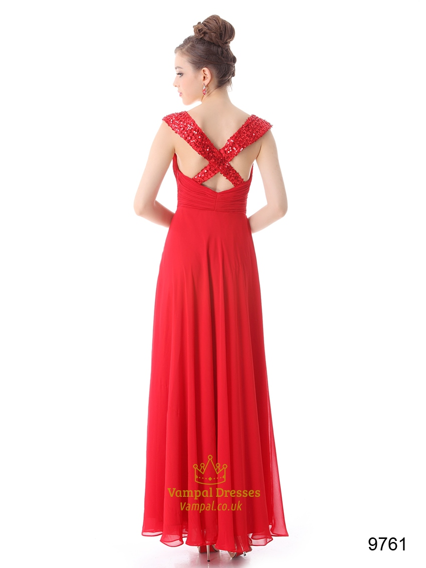 Red prom dresses with straps mother of the bride dresses for Garden wedding dresses mother of the bride
