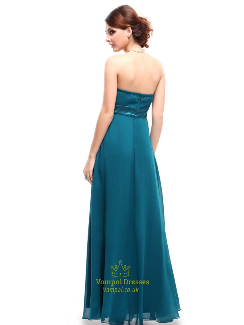 Teal bridesmaid dresses beach wedding long teal dresses for Teal dress for wedding
