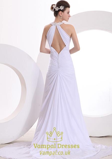 Wedding dresses high neck low back wedding dresses in for Low back wedding dresses for sale