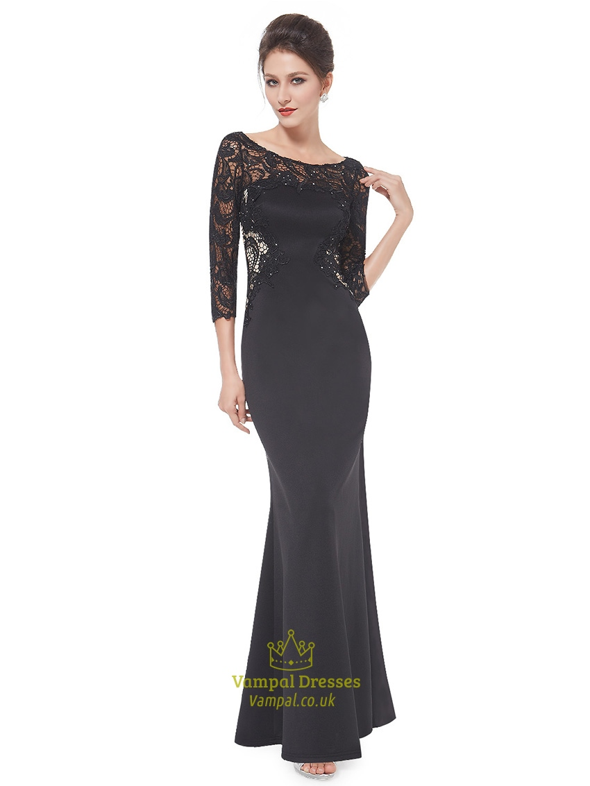 Mother Of The Bride Dresses Black Lace Cheap Wedding Dresses