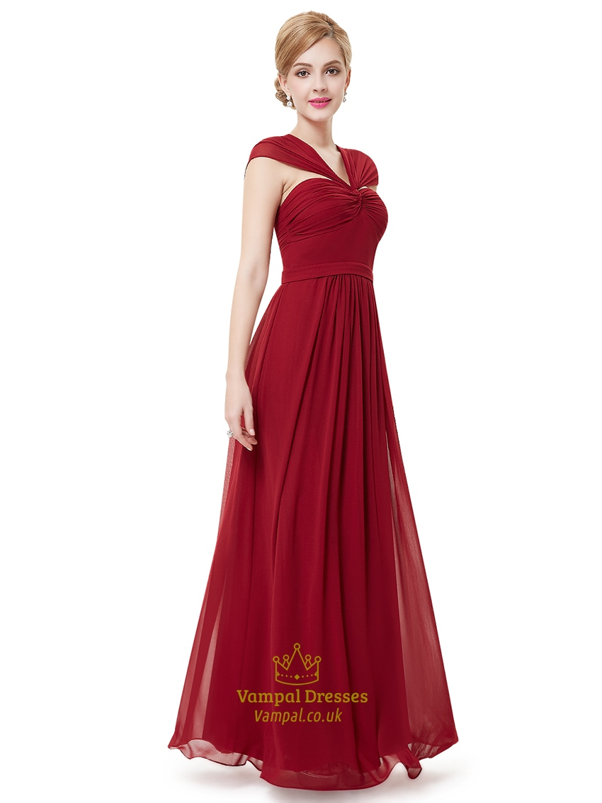 Bridesmaid Dresses V Neck Chiffon 69