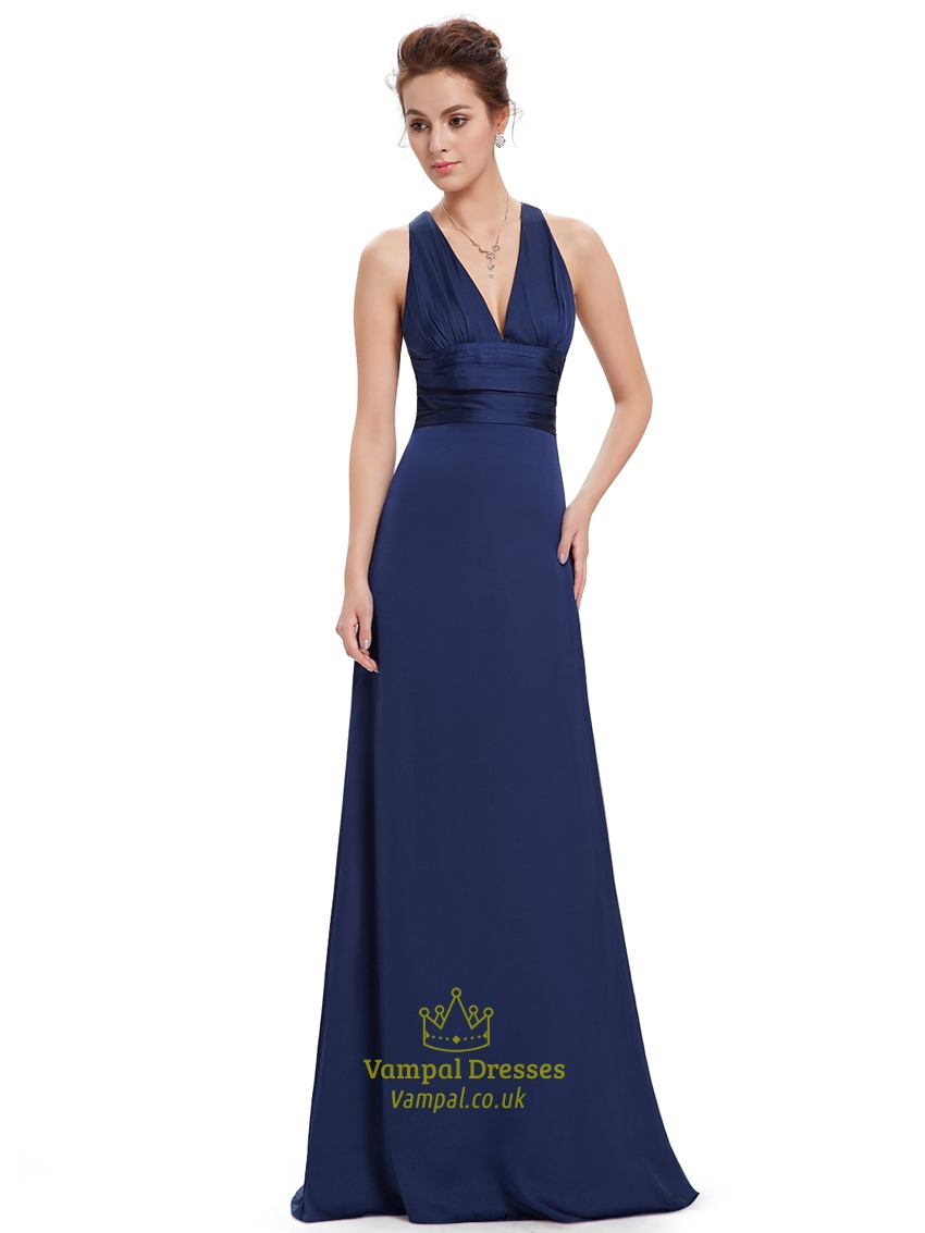 Navy blue v neck sheath criss cross back bridesmaid dresses fall navy blue v neck sheath criss cross back bridesmaid dresses fall wedding ombrellifo Images