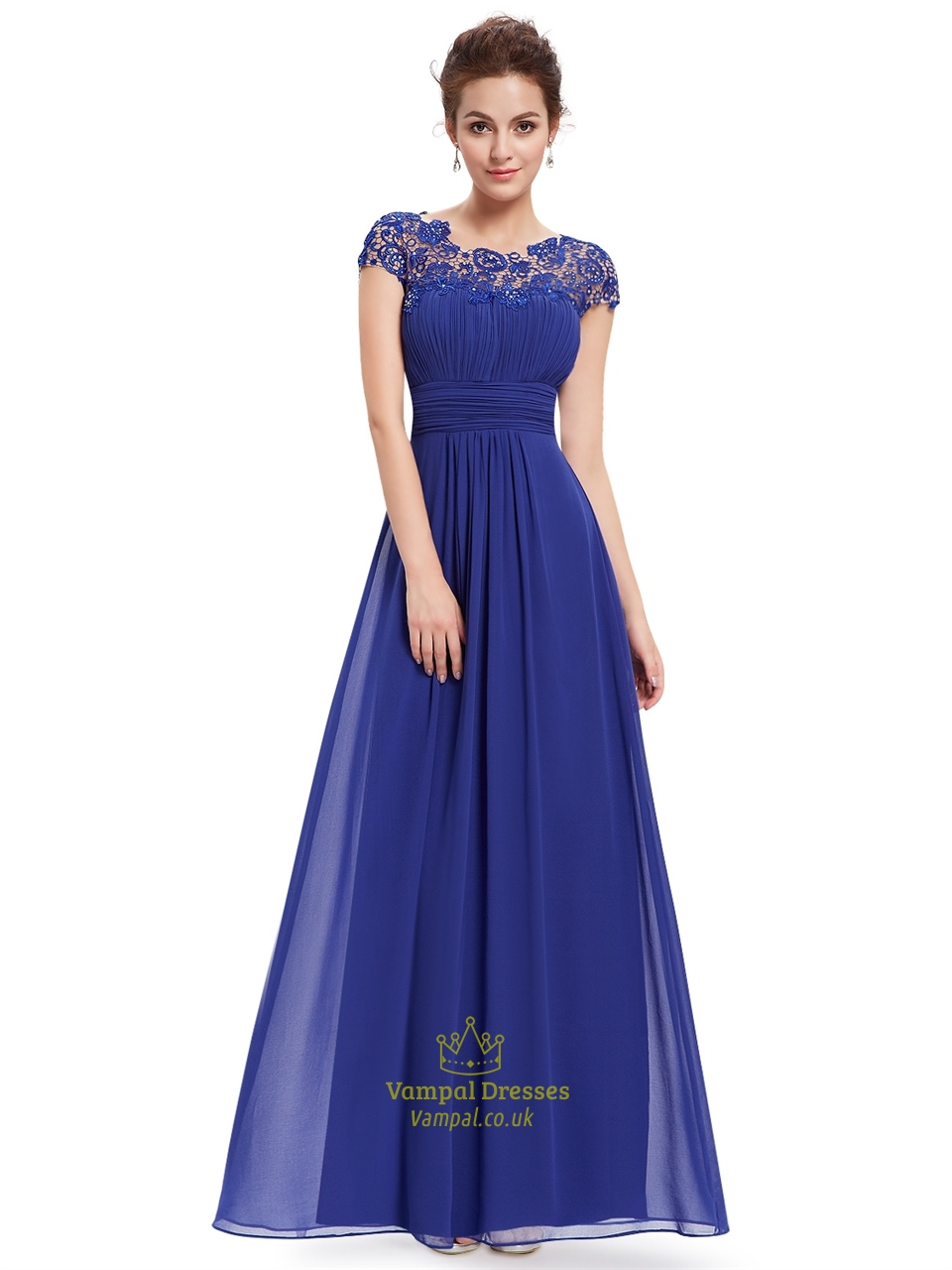 Royal Blue Chiffon Eve...