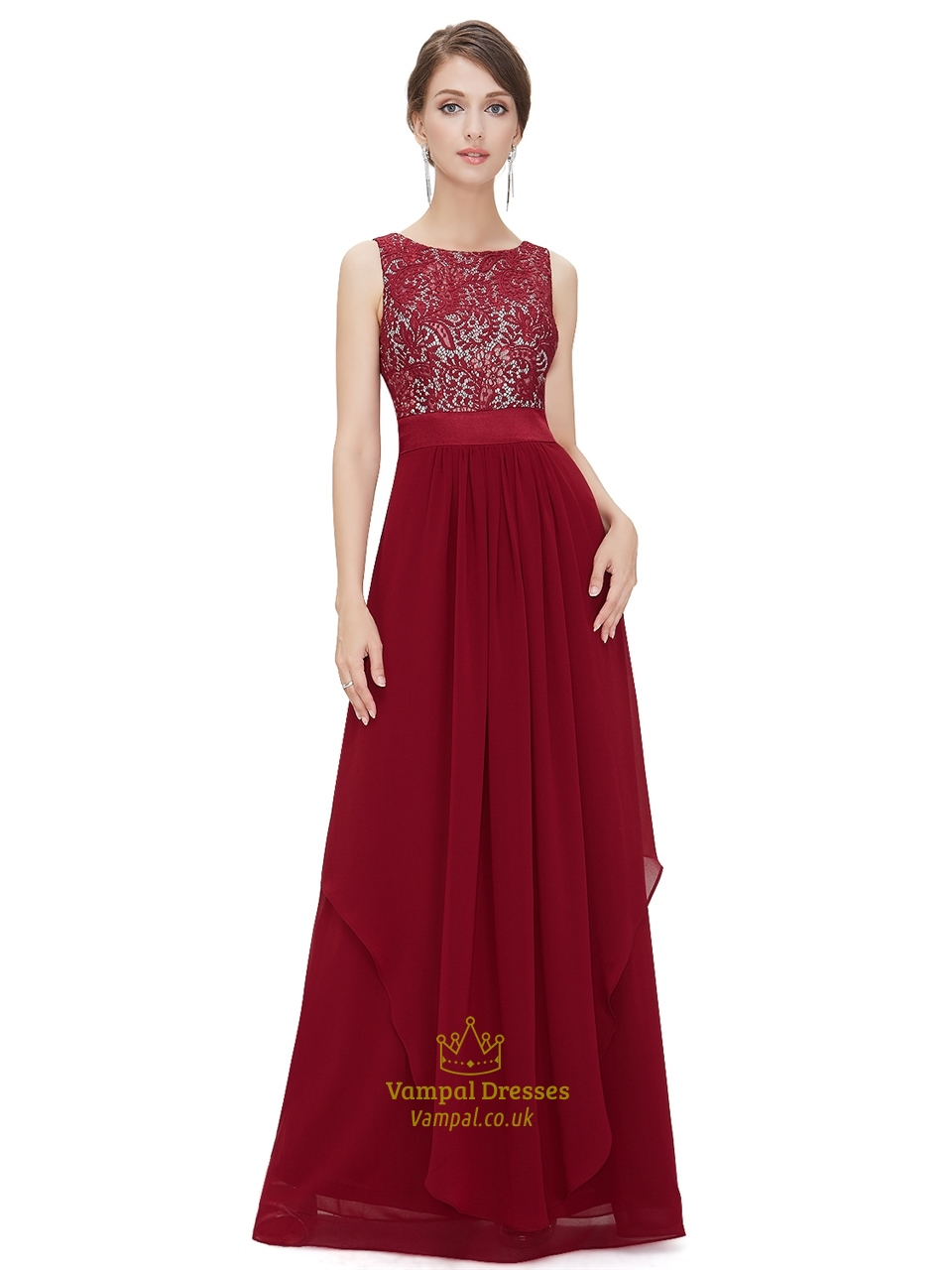 burgundy lace top chiffon bottom bridesmaid dresses with. Black Bedroom Furniture Sets. Home Design Ideas
