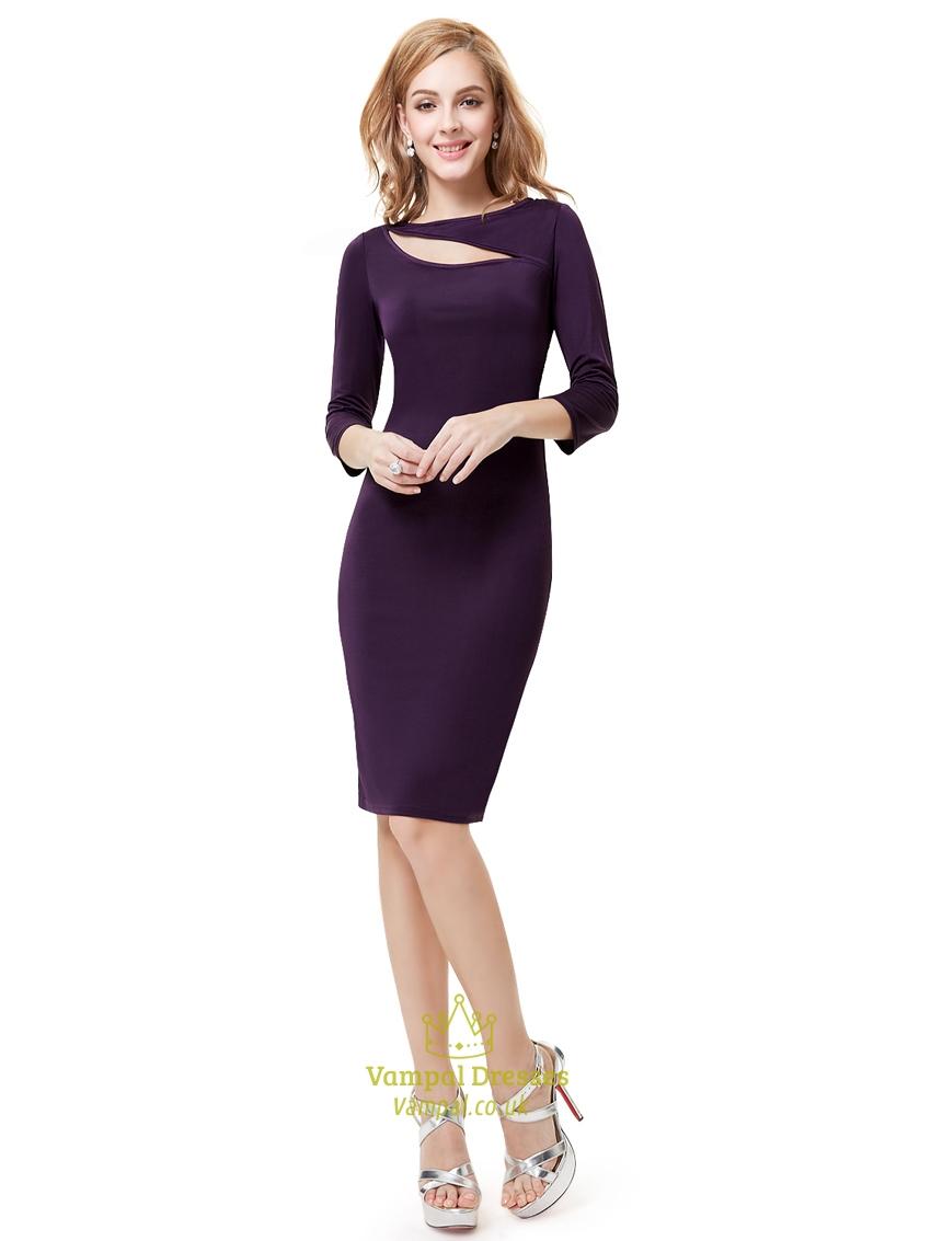 Cocktail Purple Dresses 39