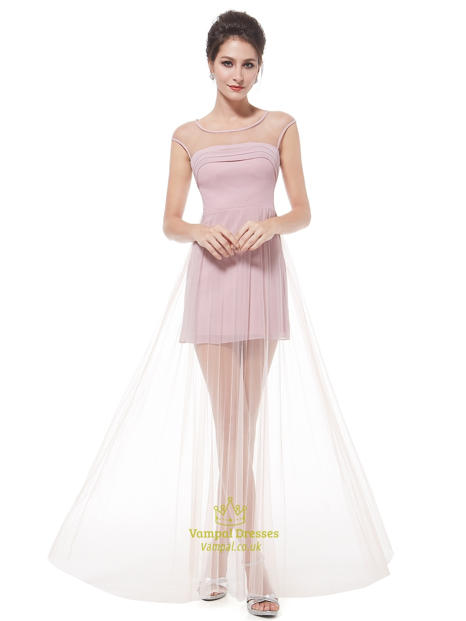 short prom dresses with cap sleeves formal dresses