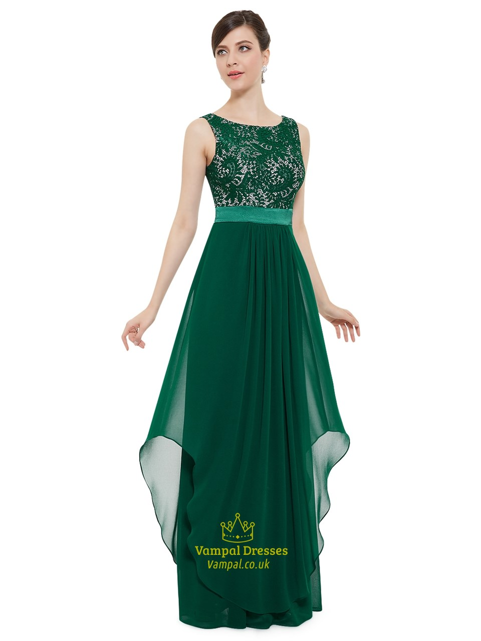 9bfb4f4671 Elegant Emerald Green Chiffon Bridesmaid Dresses With Lace Bodice Sku Nw1470