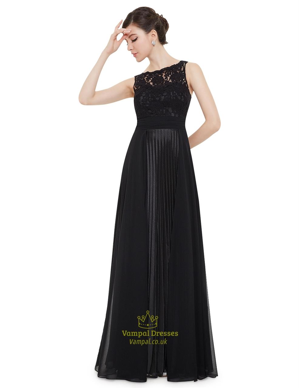 Elegant black lace illusion neckline chiffon long bridesmaid dress elegant black lace illusion neckline chiffon long bridesmaid dress ombrellifo Choice Image