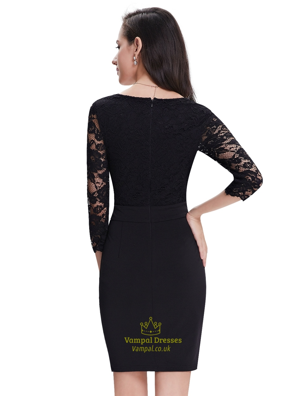 Black dresses with lace sleeves