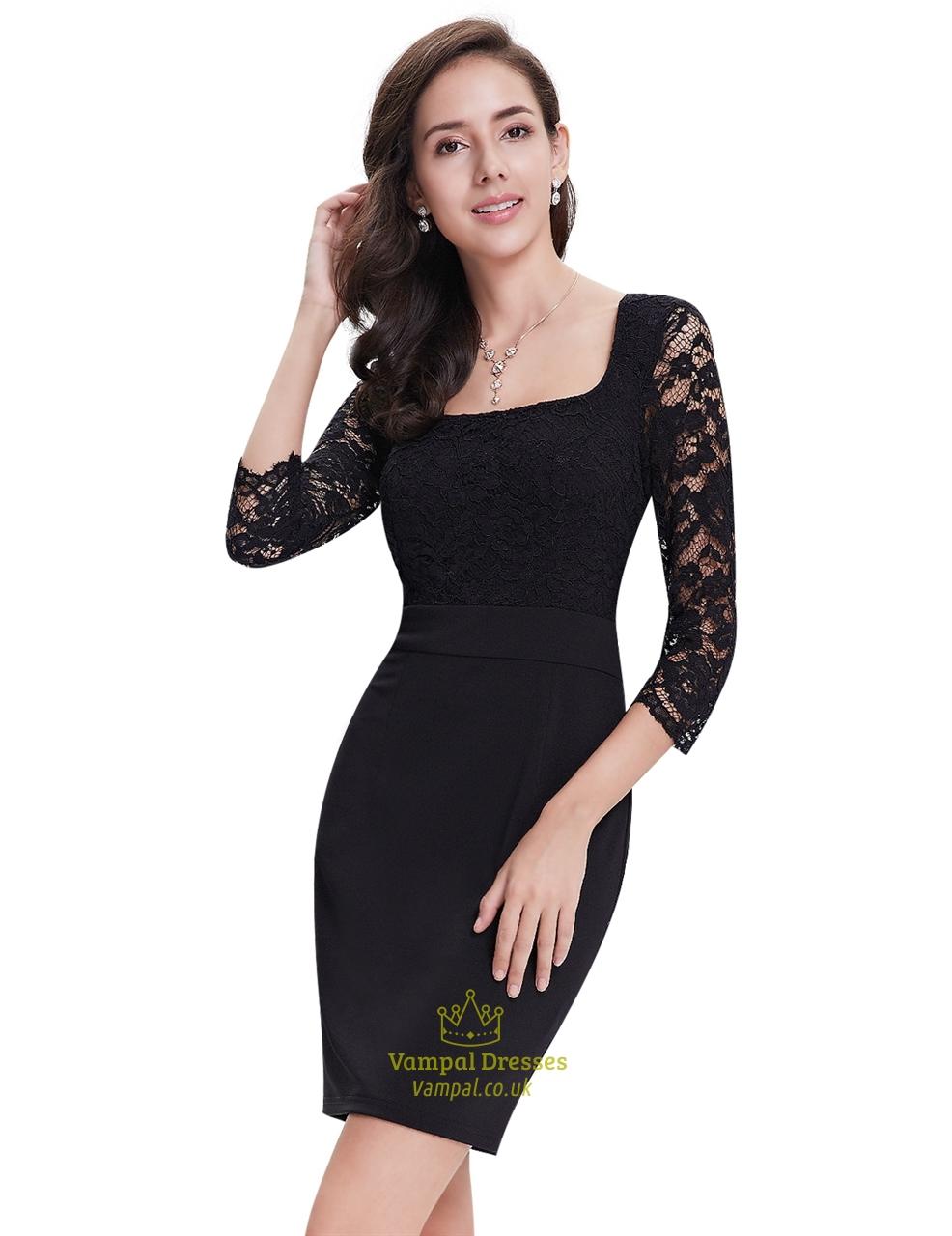 designer black lace cocktail dresses holiday dresses