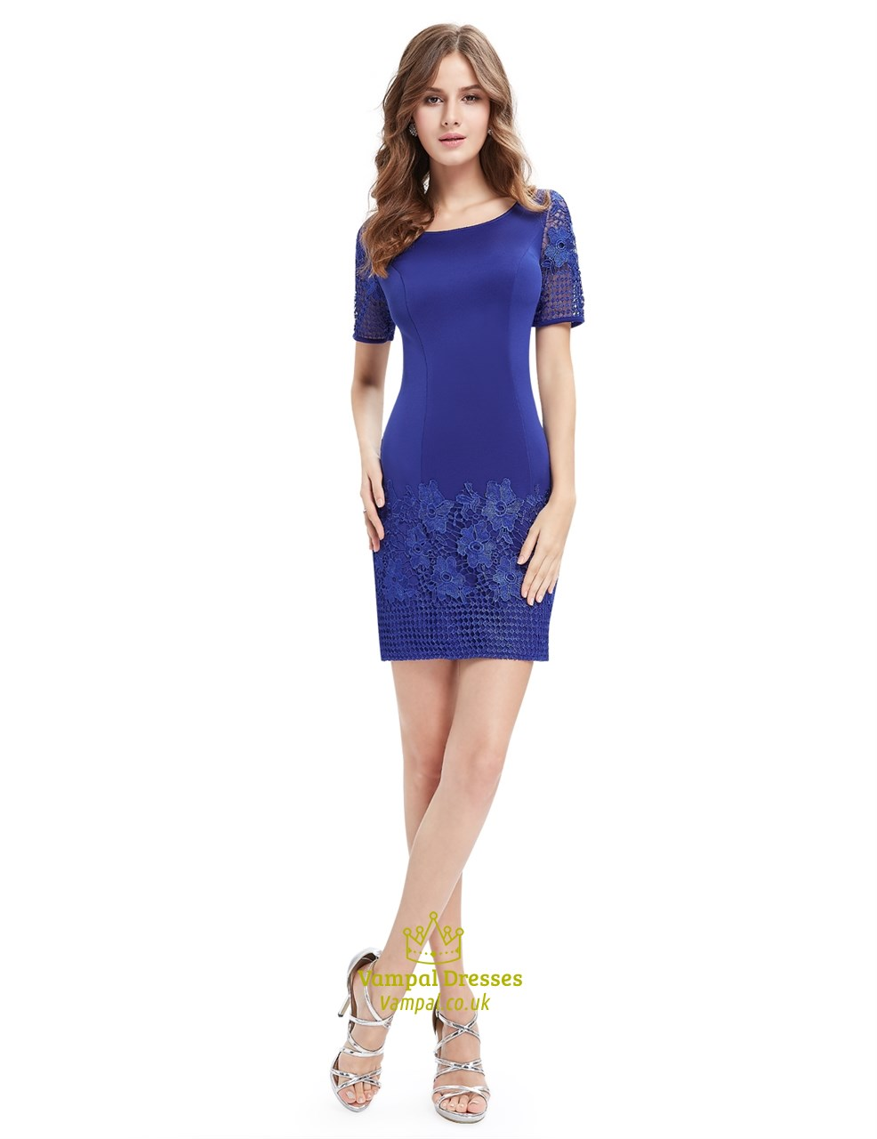 Royal Blue Casual Dress With Sleeves Cheap Online