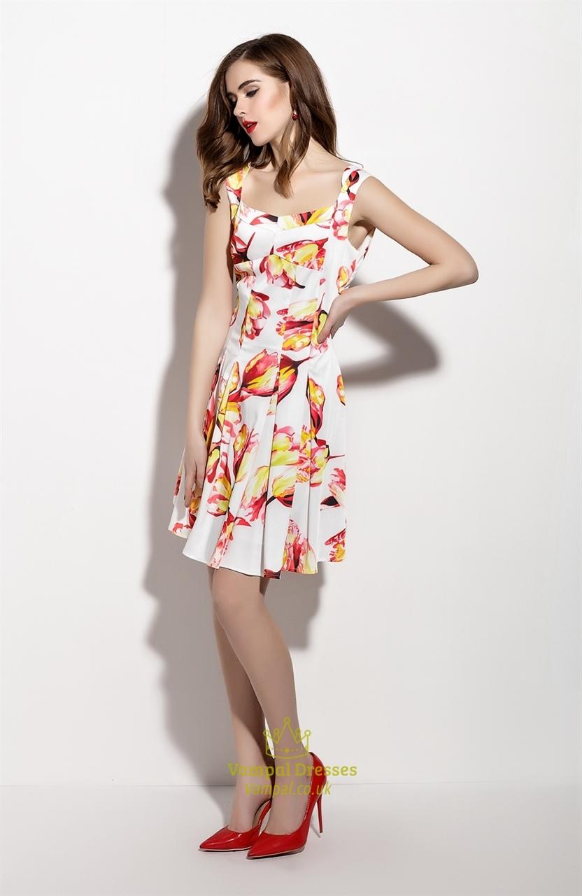 Square Neckline Cocktail Dress