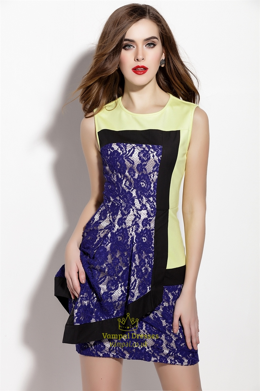 Certain styles shine more than others in an office setting. Opt for well-fitted frocks, such as sheath dresses, paired with jackets or blazers. Stick to neutral color palettes and understated patterns, including stripes, plaid, or color blocking. Consider a monochromatic ensemble in lilac or navy with a lacy jacket. Dresses for the Day to.
