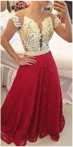 Off The Shoulder Deep V Neck Illusion Beaded Bodice A Line Prom Dress