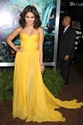 Yellow Strapless Sweetheart Neckline Low Back Chiffon Long Prom Dress