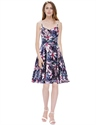 Women'S Floral Print Spaghetti Strap Knee Length Chiffon Summer Dress