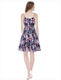 753af5318c52 Women S Floral Print Spaghetti Strap Knee Length Chiffon Summer Dress