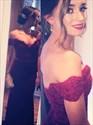 Burgundy Off The Shoulder Sweetheart Neckline Mermaid Prom Dress
