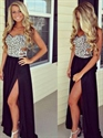 Sweetheart Strapless Beaded Cutout Long Prom Dress With Side Split