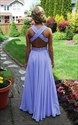 Halter Beaded Sweetheart Cross Back Floor Length Chiffon Dress