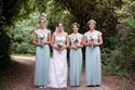 Long Chiffon Cap Sleeve Maid Of Honor Dress With Lace Bodice
