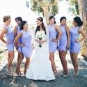Lilac Lace Sleeveless Knee Length Mini Sheath Bridesmaid Dress