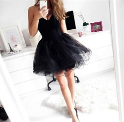 Black Strapless Sweetheart Corset Lace Up Short Prom Dress